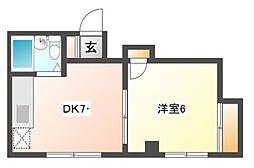 浦島ハイツ[2階]の間取り