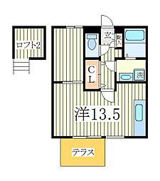 千葉県柏市東中新宿1の賃貸アパートの間取り