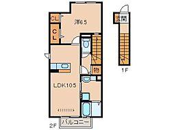 D-room三葛[2階]の間取り