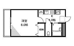 ヤガラハイツ2[2階]の間取り