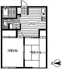 ハイツイシワタ5[103号室]の間取り