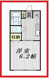 東京都荒川区荒川7丁目の賃貸マンションの間取り
