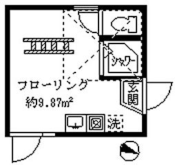 フェリスフロール[203号室]の間取り
