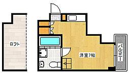 阪急神戸本線 王子公園駅 徒歩5分の賃貸マンション 6階ワンルームの間取り
