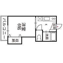 福岡県福岡市西区愛宕1丁目の賃貸マンションの間取り