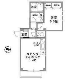 ル ソレイユ千川[102号室]の間取り