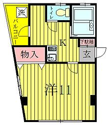 明原マンション森田[4階]の間取り