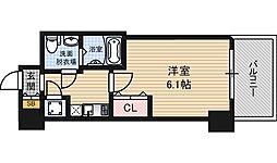 阪神本線 野田駅 徒歩4分の賃貸マンション 8階1Kの間取り