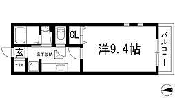アンジュ・イサ[1階]の間取り