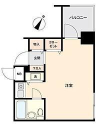 ジョイフル六義園[2階号室]の間取り