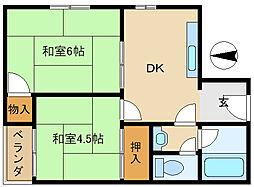 中嶋マンション[3階]の間取り
