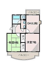 神奈川県相模原市南区東大沼1丁目の賃貸マンションの間取り
