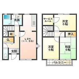 [一戸建] 兵庫県神戸市西区二ツ屋1丁目 の賃貸【/】の間取り