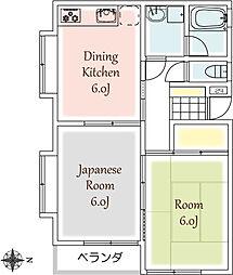 埼玉県富士見市針ケ谷1丁目の賃貸マンションの間取り