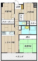 アビタシオンオキ[2階]の間取り