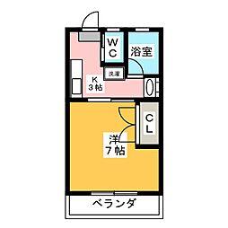 コスモタウンきく[1階]の間取り