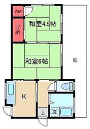 [一戸建] 東京都足立区東和1丁目 の賃貸【/】の間取り