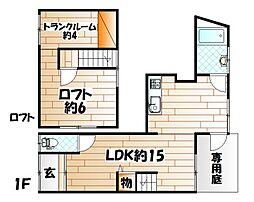 [テラスハウス] 福岡県北九州市小倉北区赤坂2丁目 の賃貸【/】の間取り