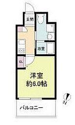 阪急京都本線 上新庄駅 徒歩3分の賃貸マンション 7階1Kの間取り