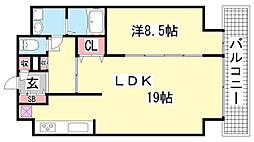 DAIWAマンション[801号室]の間取り