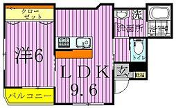 カーサ・コモド[2階]の間取り