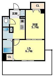 愛知県岡崎市康生通東2丁目の賃貸マンションの間取り