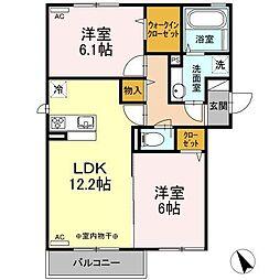 仮)D−room新井田西[2階]の間取り