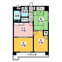 Scudetto Matsubara[5階]の間取り