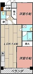 フェルト730[4階]の間取り