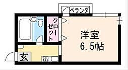 BIOS長岡京市[103号室]の間取り