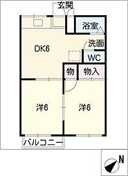 ファミール神沢[1階]の間取り