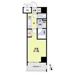 名古屋市営鶴舞線 丸の内駅 徒歩8分の賃貸マンション 8階1Kの間取り
