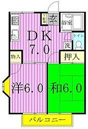 メゾンド・ユイ[205号室]の間取り