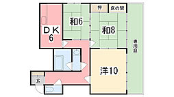 田寺中村コーポ[101号室]の間取り