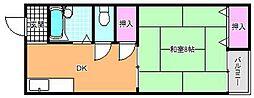 メゾン川奈[2階]の間取り