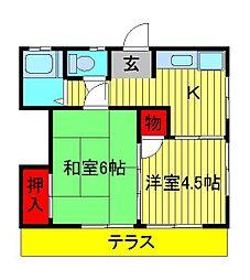 [一戸建] 千葉県柏市光ヶ丘1丁目 の賃貸【/】の間取り