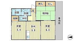 シャーメゾン片山[B102号室]の間取り