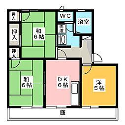 ガルテン26 A棟[2階]の間取り