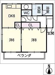 アカデミーセザンヌ[2階]の間取り