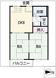 ゆうハウス[1階]の間取り