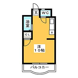ソレイユ箱崎[4階]の間取り