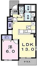 ルーベル論田A[1階]の間取り