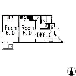 ミノベマンション[4階]の間取り