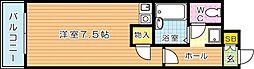 オリエンタル折尾(分譲)[3階]の間取り