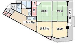 新大阪ハイツ(分譲) 6階4LDKの間取り