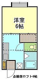 扇ハイツ3[105号室]の間取り