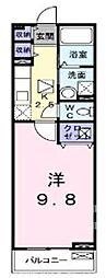 大阪府枚方市東香里新町の賃貸アパートの間取り