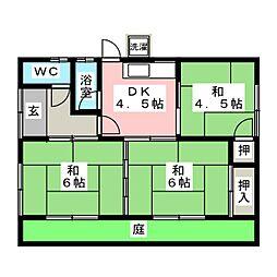 [一戸建] 岐阜県羽島市福寿町間島6丁目 の賃貸【/】の間取り