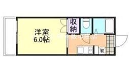 水島臨海鉄道 弥生駅 徒歩25分の賃貸アパート 2階1Kの間取り