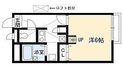 兵庫県西宮市上之町の賃貸アパートの間取り